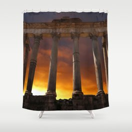 Temple of Saturn Ruins Shower Curtain