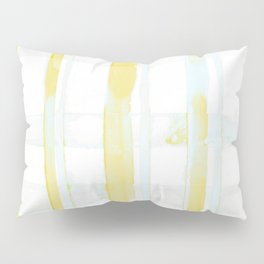 Yellow and Turquoise Plaid Pillow Sham