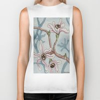 botanical Biker Tanks featuring Botanical Visions by Bonnie Johnson