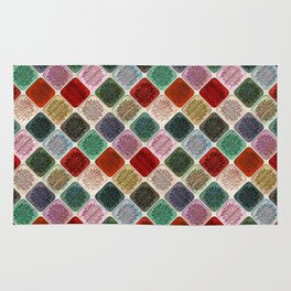 Colored Wood Pattern 2 Rug