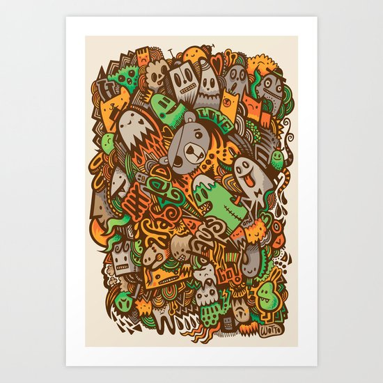 Wasted Days Art Print