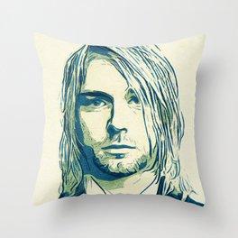 Nevermind Cobain Throw Pillow