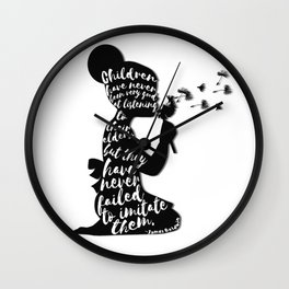 Children have never been very good at listening to their elders, but they have never failed to imita Wall Clock