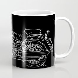 Vulcan 1600 original handmade drawing, gift for bikers Coffee Mug