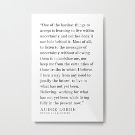 30  | Audre Lorde |Audre Lorde Quotes | 200621 | Black Excellence Metal Print