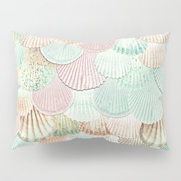 MERMAID SHELLS - MINT & ROSEGOLD Pillow Sham