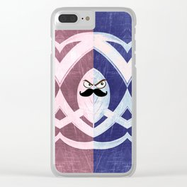 Lil Stache Guys Clear iPhone Case