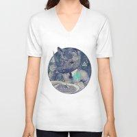 twilight V-neck T-shirts featuring TWILIGHT by Steven Kline