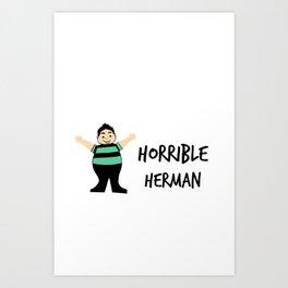 horrible herman logo  Art Print