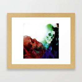 Jagged Little Skull Framed Art Print