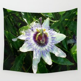Beautiful Passion Flower With Garden Background  Wall Tapestry