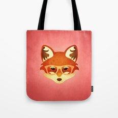 Hipster Fox: Rose Tote Bag