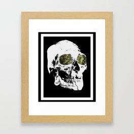 Money Skull Framed Art Print