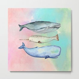 Whaling Around Metal Print