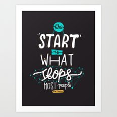 What Stops Art Print