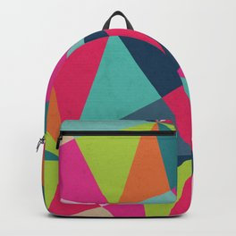 Geometric Triangle Pattern  - Spring Color Palette - Backpack
