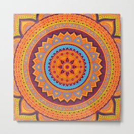 Hippie mandala 67 Metal Print