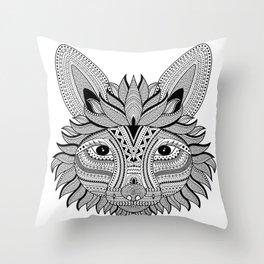 Foxy Fox Dark Throw Pillow