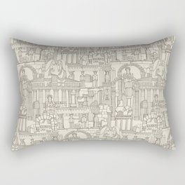 Ancient Greece natural Rectangular Pillow