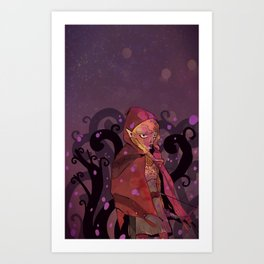 Purple haze and tree maze Art Print