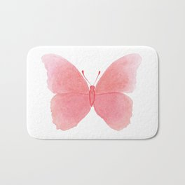 Watermelon pink butterfly Bath Mat