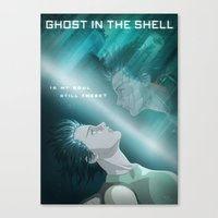 ghost in the shell Canvas Prints featuring Ghost in the Shell, fan poster by XDimov