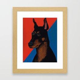 Doberman Pinscher Don Framed Art Print