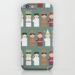 Saint Lucia Christmas pattern iPhone Case