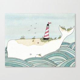 The Beacon Whale Canvas Print