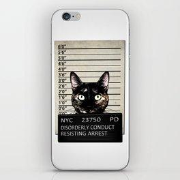 Kitty Mugshot iPhone Skin
