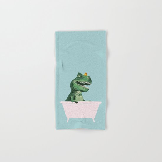 Playful T-Rex in Bathtub in Green by bignosework
