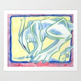 Green Walker Art Print
