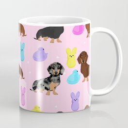 Dachshund dog breed peeps marshmallow treat easter spring doxie lover Coffee Mug