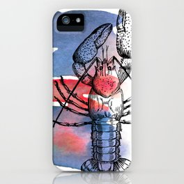 Lobster in Red and Blue iPhone Case