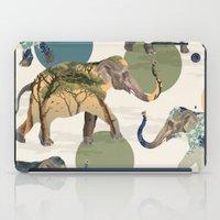 polka iPad Cases featuring Elephant Polka by Paula Belle Flores