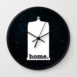 Home (Police Box Galaxy Version) Wall Clock