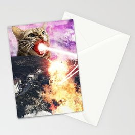 Lasers and A Small British Village Stationery Cards
