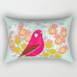 Bird on a Teacup by Andrea Lauren  Rectangular Pillow