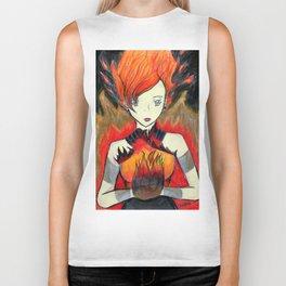 Girl on Fire Biker Tank