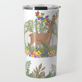 Deer in the forest. Travel Mug