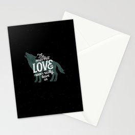 Never leave us Stationery Cards