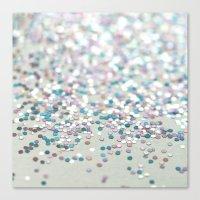 glitter Canvas Prints featuring GliTTER by Monika Strigel