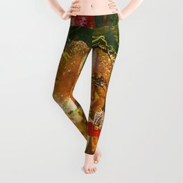 The Fairies Banquet Magical Realism Landscape by John Anster Fitzgerald Leggings