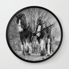 Working Horses Wall Clock