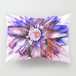 Painted Star Flower Abstract Pillow Sham