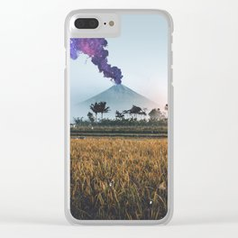 Volcano Eruption Clear iPhone Case