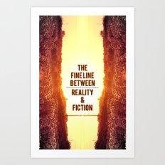 The fine line. Art Print