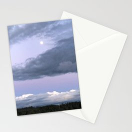 Moon Clouds Stationery Cards