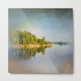 Tennessee River Reflections - Water Landscape Metal Print