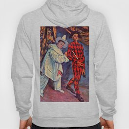 "Paul Cezanne ""Pierrot and Harlequin (Mardi gras)"", 1888 Hoody"